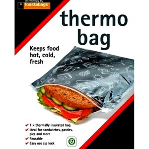 Toastabag Thermo Bags Keeps food fresh, hot and cold. These bags are the perfect size for reusable sandwich storage
