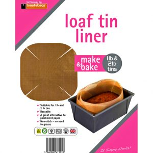 Toastabags Universal Loaf Tin Liner perfect for baking tins to make cakes and loafs up to 2lbs