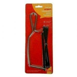 Junior Hacksaw 6'' Amtech Frame + 6 Metal Blade Mini Hacksaw