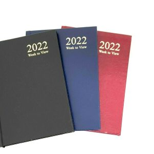 2022 A4/A5/A6 Diary Week to View Diary and Day a Page Hard Backed Diary. Event planning, task management and perfect for keeping track of birthdays